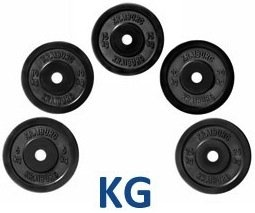 Kraiburg 120 kg Weight Set Olympic Rubber Bumper Plates for Crossfit Powerlifting