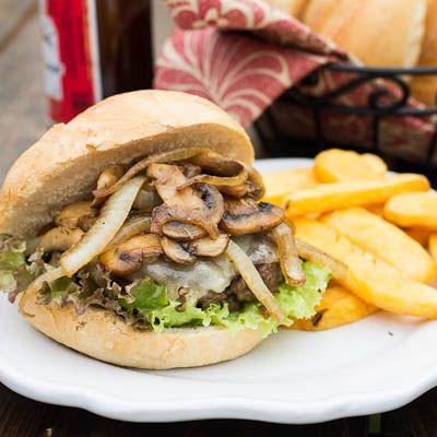 Recipe: Mushroom Swiss Burgers...I used the mushroom & onion portion ...