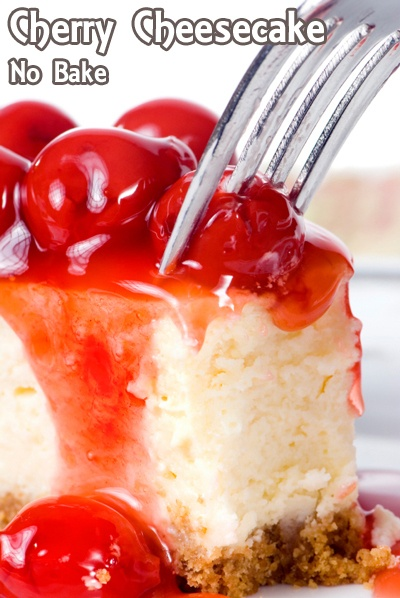 No Bake Cherry Cheesecake | Sweet Treats | Pinterest