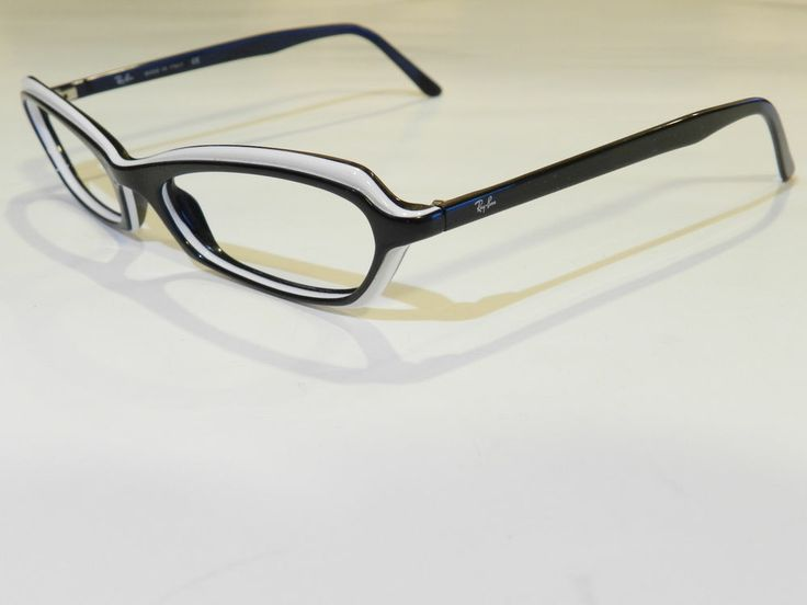 Glasses Frames Turning White : Ray Ban 5034 2097 Black And White Cateye Style Eyeglass ...