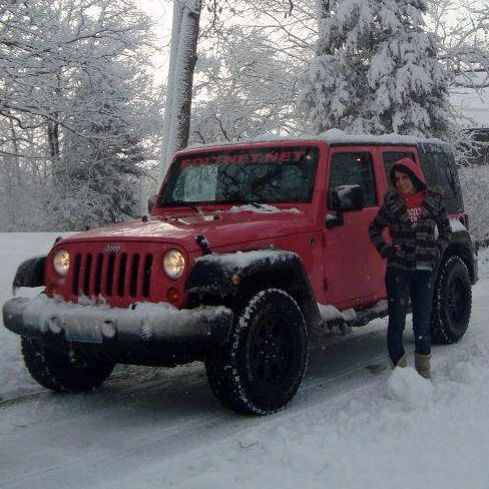 Pink Jeep In Snow My Hot Pink Jeep Pinterest