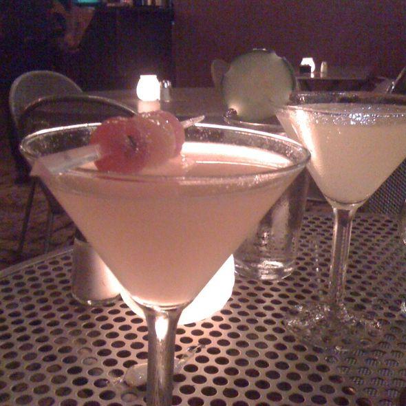 "Cantaloupe and cucumber lime ""aguas frescas"" martinis"