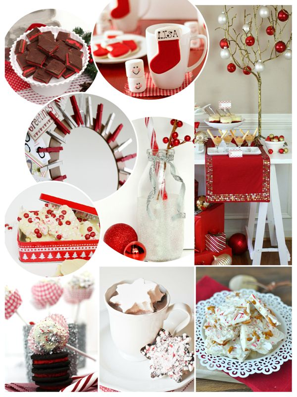 #partyideas #Christmas #Holidays #party #decor #tablescape #recipes #crafts #DIY #redwhite