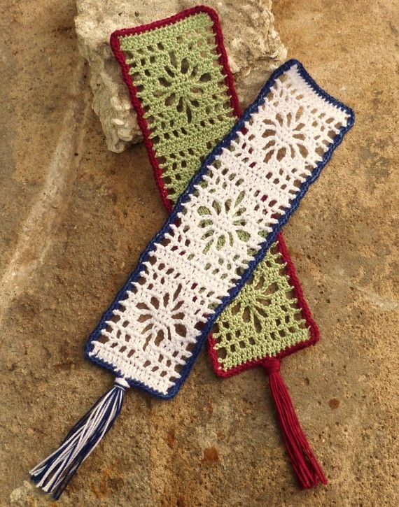 Crochet Bookmarks : Custom Flower Crocheted Bookmark by Ravy17 on Etsy, $9.95