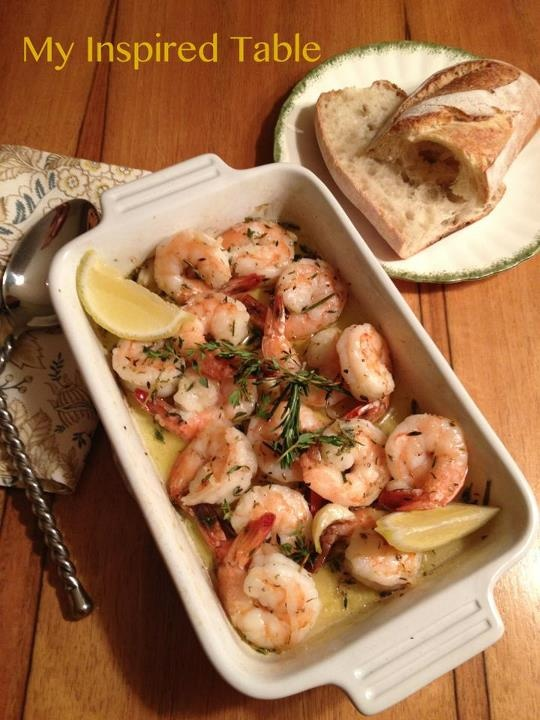 Roasted Shrimp with Garlic, Rosemary and Thyme From My Inspired Table ...