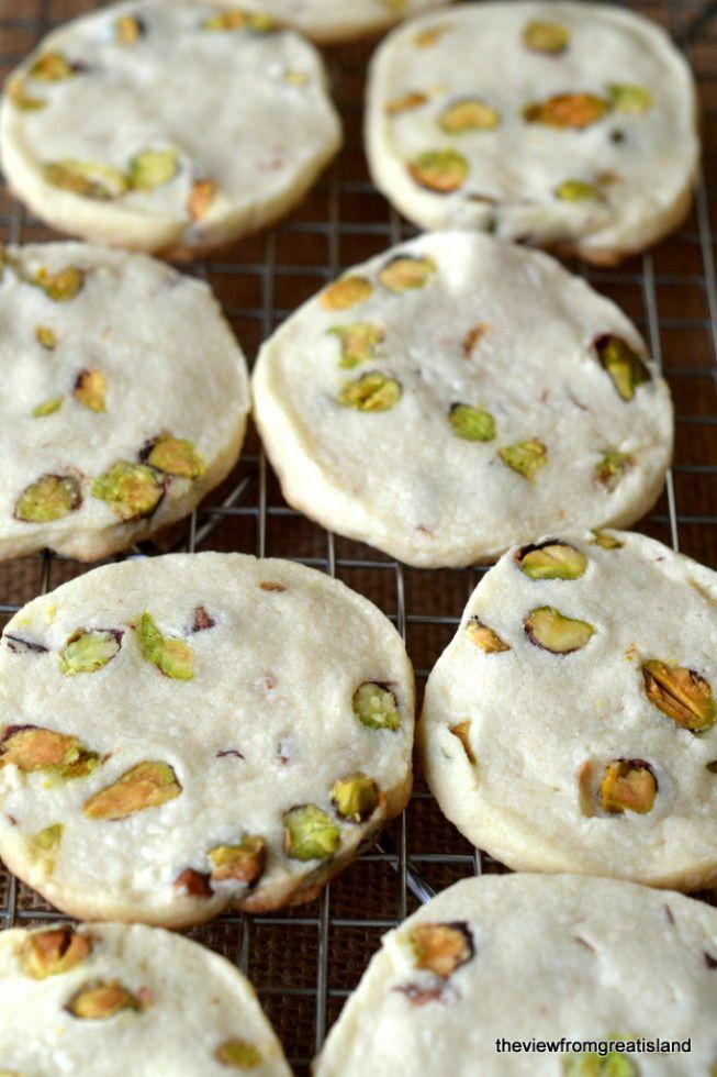 Pistachio Shortbread Cookies | Recipe