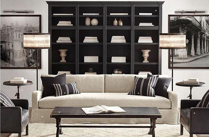 restoration hardware living room living room pinterest