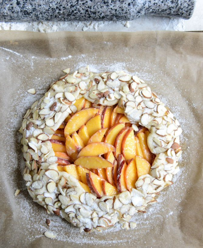 ginger peach galette with almond crust I howsweeteats.com | Food ...