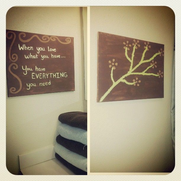 Diy Canvas Art In The Bathroom DIY Pinterest