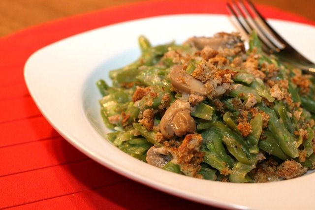 Vegan green bean casserole! | Get in my (vegetarian) belly! | Pintere ...