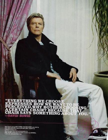 David Bowie waxes poetic about Interior Design! *swoon*