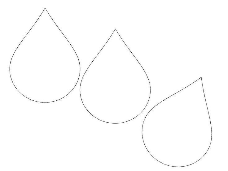 printable raindrops template - raindrop template