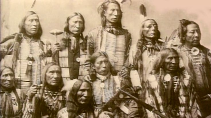 This photo of Oglalas was likely taken at the Omaha Indian Congress Exposition by Heyn in 1899. Back row from left: Hard Heart, Lone Bear, Jack Red Cloud, Shot In The Eye, Last Horse. Front row from left: Black Bear, Little Wound, Black Bird, High Hawk, Conquering Bear.