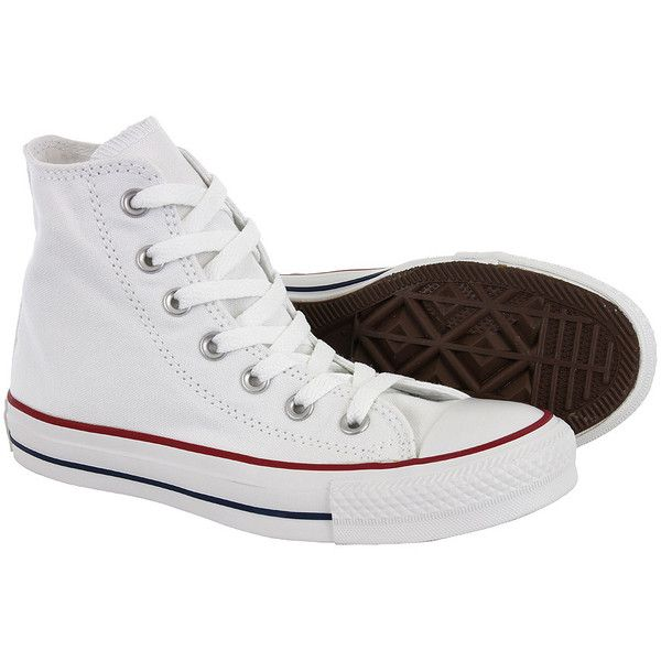 Converse All Stars Optical boots – white Converses – unisex boots UK ($64) ❤ liked on Polyvore