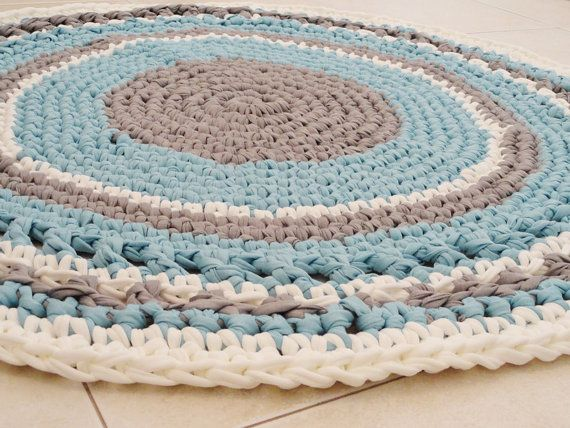 Original Crochet Rug Round Rug Nursery Girl Rug Bath Mat Bedroom Rug