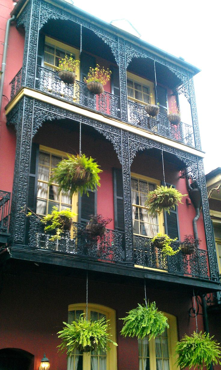 French Quarter Architecture Beautiful Places Pinterest