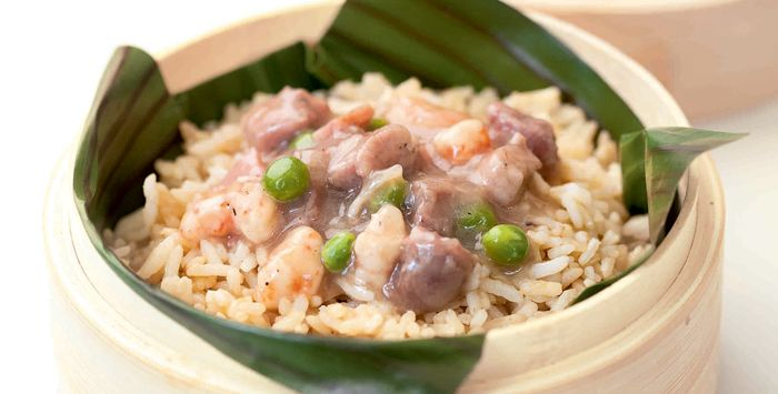 Steamed Fried Rice with Pork Topping | FOODIE THIRSTY | Pinterest