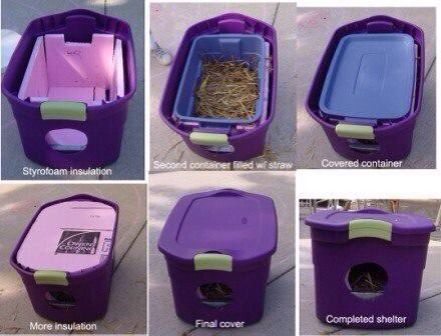 DIY Winter Cat House- This is what my outdoor cat is going to get asap ...