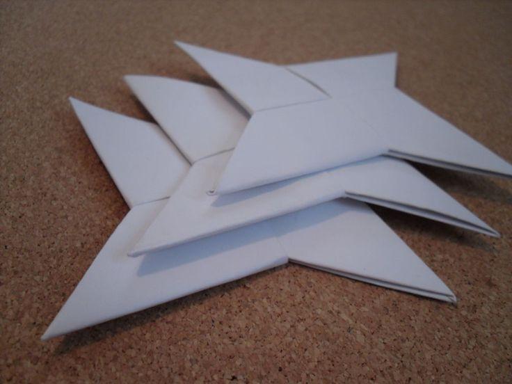 Diy ninja stars parties pinterest for Diy paper stars