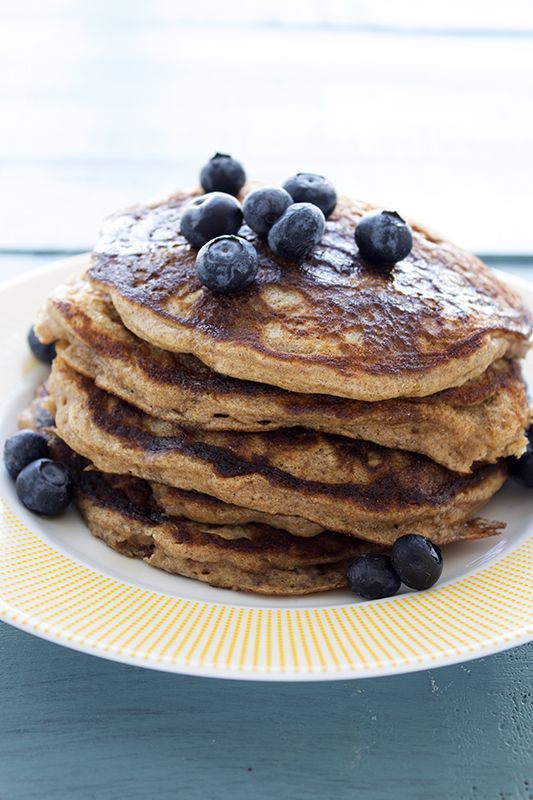Whole Wheat Pancakes - made with less sugar.