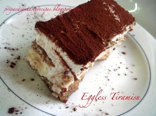 Eggless Tiramisu | Desserts | Pinterest