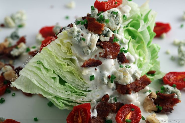 Iceberg Wedge Salad with Bacon, Blue Cheese & Oven-Dried Cherry ...