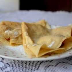 Crepes with roasted apple | Desserts | Pinterest