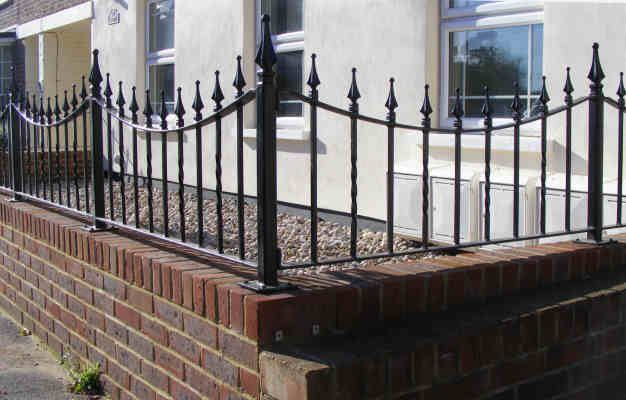 Brick And Iron Fence 4 Ft Exterior Design Ideas