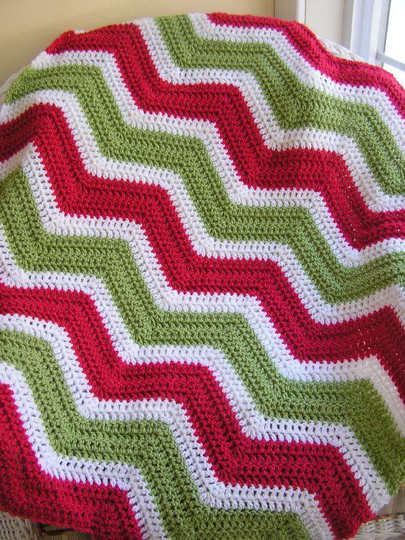 Crochet Zig Zag Baby Blanket : ... chevron zig zag baby blanket afghan wrap crochet wheelchair ripple