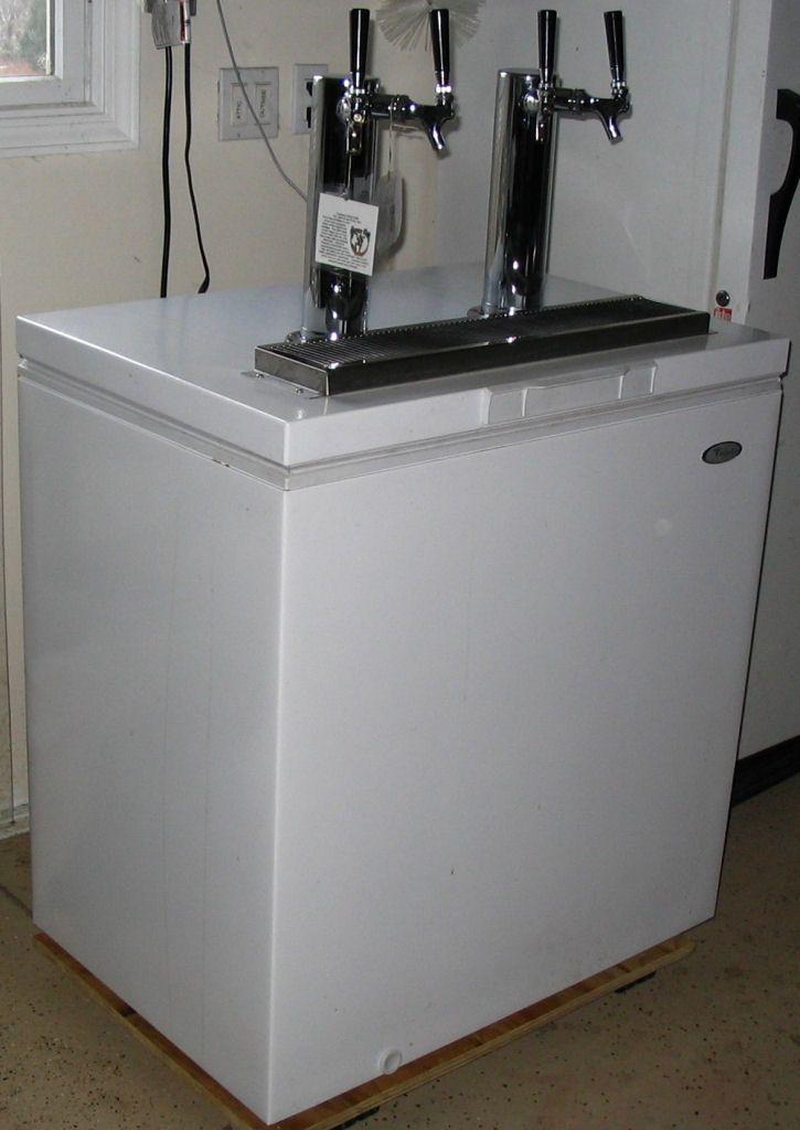 diy kegerator built into chest fridge dude ideas