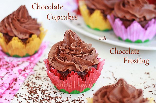 Chocolate Cupcakes with Chocolate Frosting