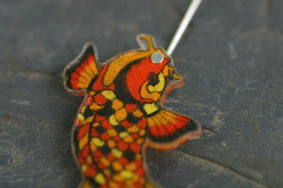 Pin orange koi fish tattoo on pinterest for Orange and black koi