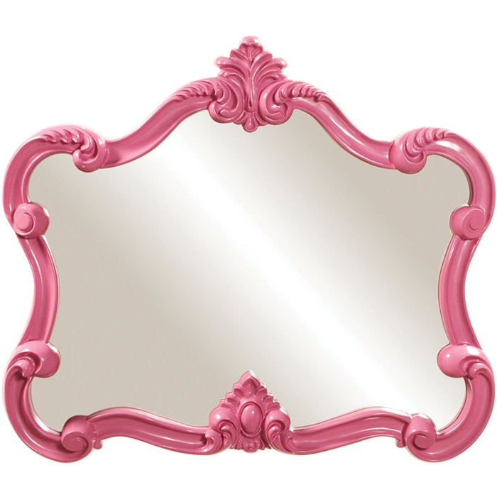 Hot pink wall mirror