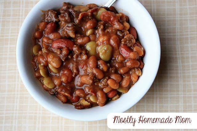 Mostly Homemade Mom: Calico Baked Beans | Recipes | Pinterest