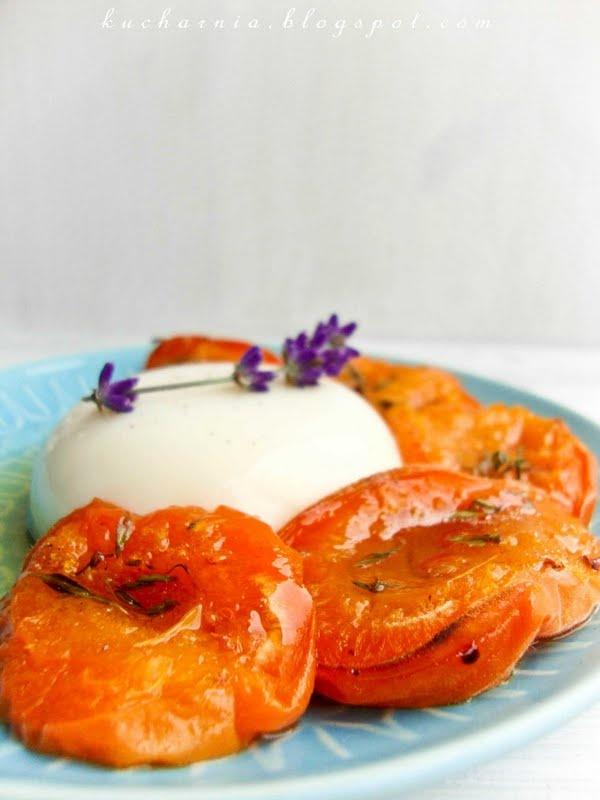 ... Morele i lawendowa panna. lavendar panna cotta with roasted apricots