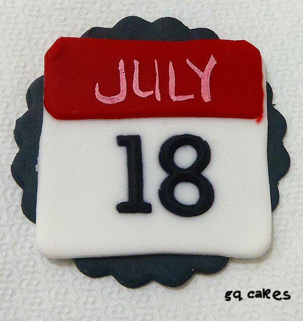 calendar icon cupcake - gq cakes   gq cakes - http://www.facebook.com ...