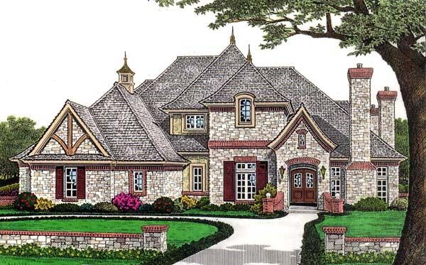european french country house plan 66110