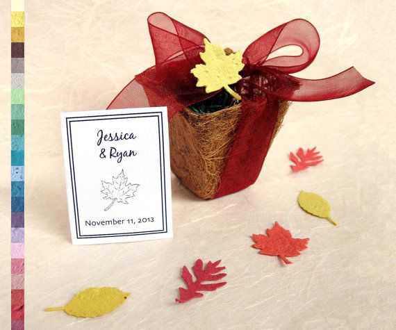 Seed wedding favors plantable paper flower seed and plantable p