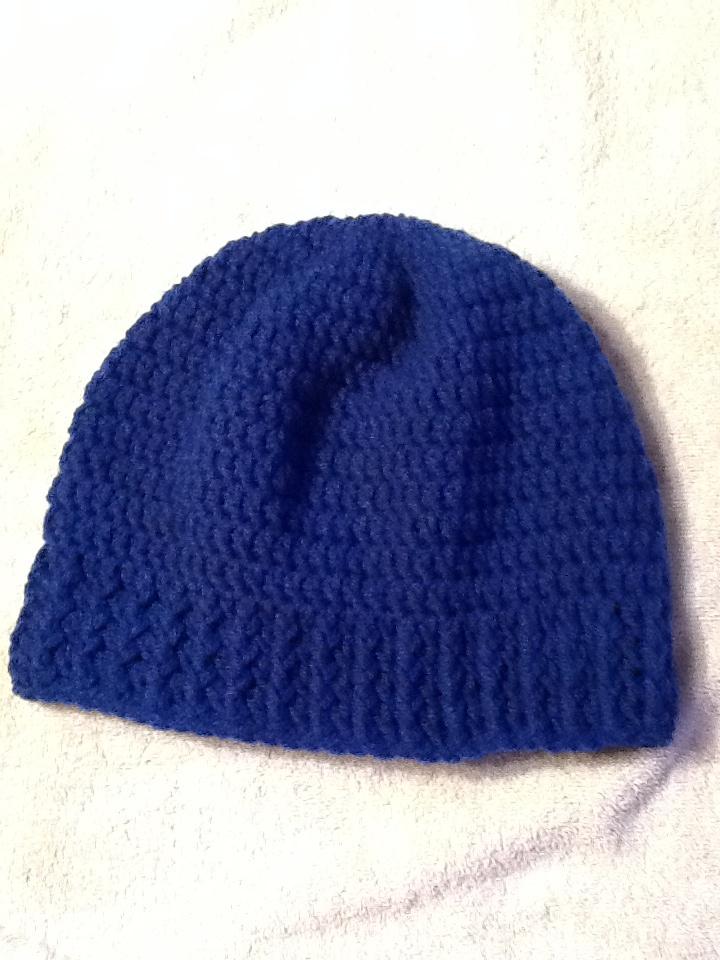 Crochet Mens Hat : Blue mens crocheted hat. Mans hat Pinterest