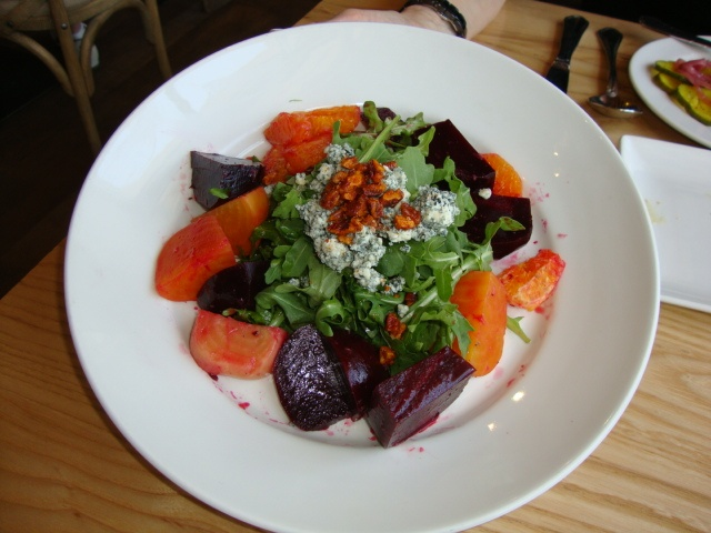 Great Roasted Beet Salad, with Blue Cheese and Tangerines at Yardbird ...