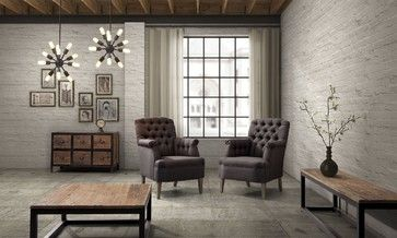 industrial loft furniture eclectic living room home