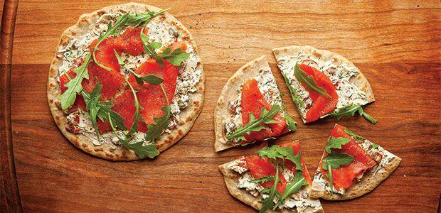Quinoa Flatbread Salmon Pizzas | Favorite Recipes - Meals | Pinterest