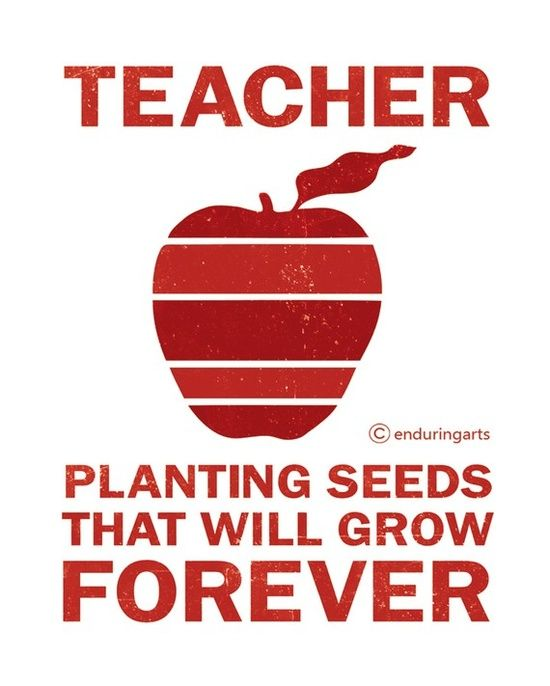 Etsy Red Apple TEACHER Quote Typography | http://my-doityourself-gift ...