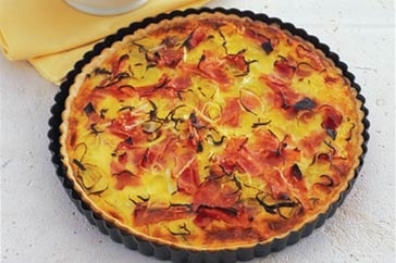 Ham and leek quiche | Quiches & Savoury Tarts | Pinterest