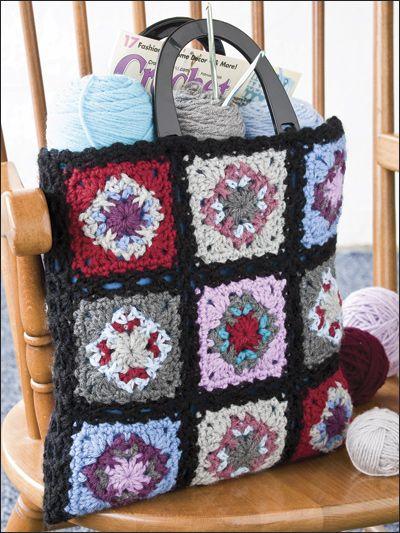 Granny Square Tote Bag : Granny Square Chic Tote great grannys Pinterest