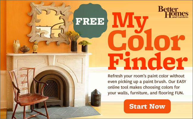 Use this tool from Better Homes to repaint your room before you ever lift a brush or go to the store.  What a great idea!