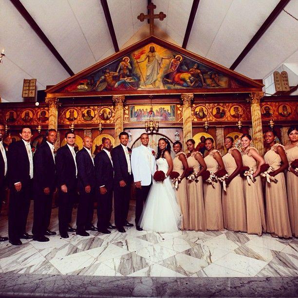 Cream and maroon wedding