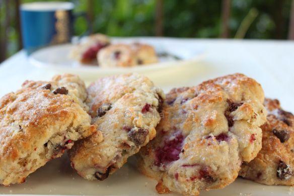 Raspberry scones | Food | Pinterest