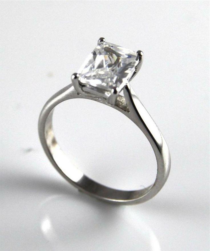 unique engagement rings emerald cut my wedding