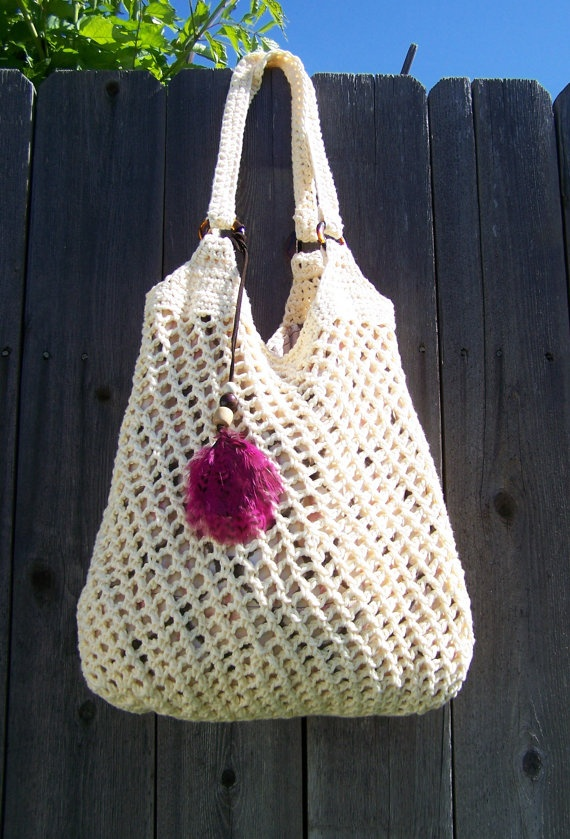Hobo Bag Crochet : Crochet Hobo Bag. idea for rings on purse.....